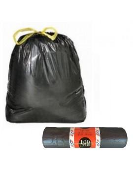 Lot de 20 sacs poubelle à liens classiques 100L