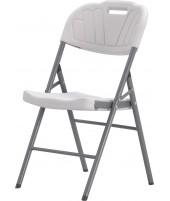 Chaise blanche à motif