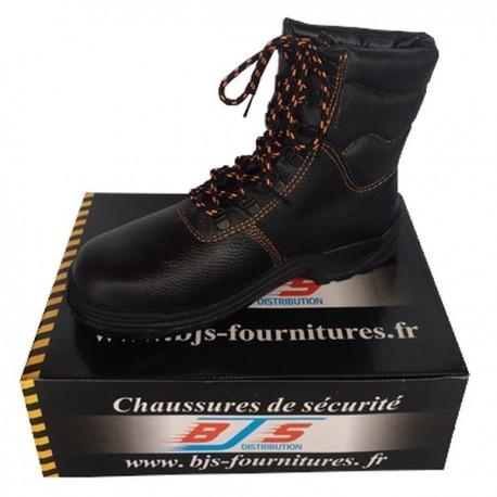 Chaussures montantes de sécurité en cuir BJS