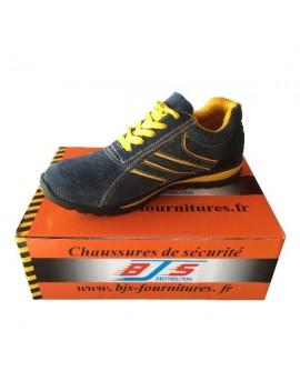 Baskets de sécurité grises/jaunes BJS
