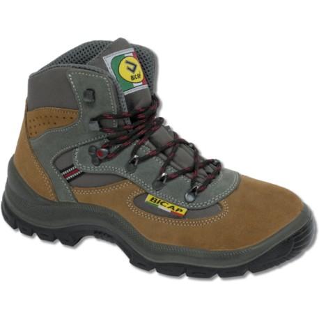 Chaussures montantes de sécurité en cuir chamoisée et nylon BICAP