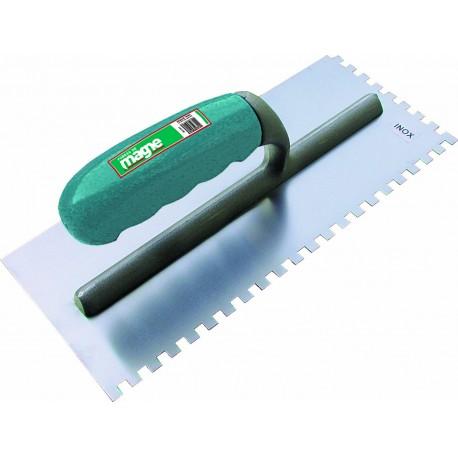 Platoir à colle en inox dents carrées 6x6 Magne