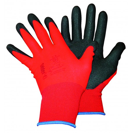 Gants à enduction polyamide rouge Magne