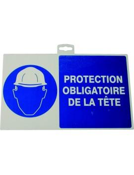"""Panneau """"Protection obligatoire de la tête"""""""