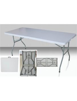 Table rectangulaire dimension 183 cm x 76 cm, pliante en malette