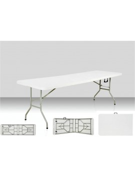 Table rectangulaire 240 x 76 cm pliante en malette