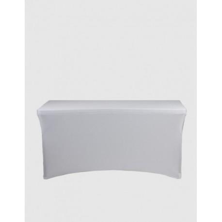 Housse Spandex pour table pliante rectangle 152 cm x 76 cm - couleur blanche
