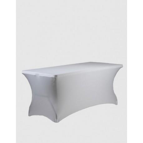 Housse Spandex pour table pliante rectangle 183 cm x 76 cm - blanc