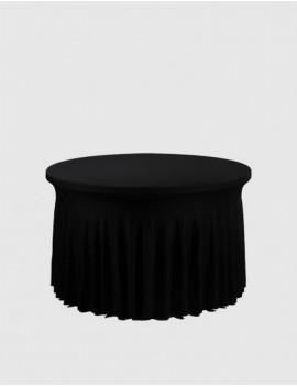 Housse Spandex pour table pliante ronde diamètre 122 cm - ondulé