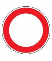 """Panneau seul BK0 """"Circulation interdite"""""""