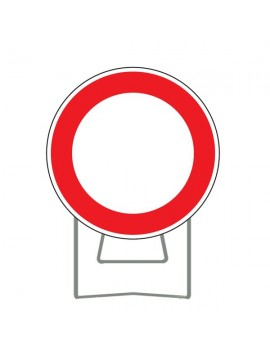 "Panneau BK0 ""Circulation interdite"" avec support"