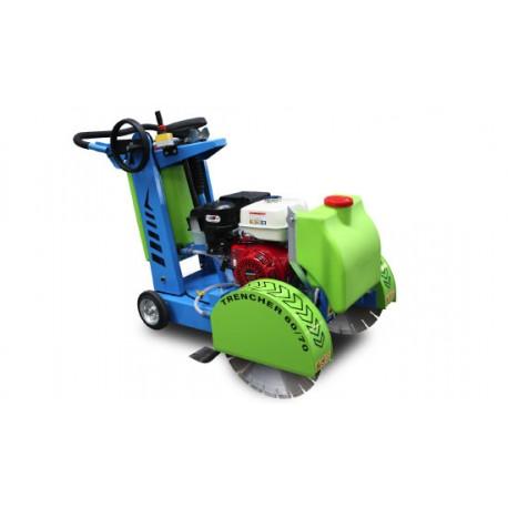 Scie à sol double lame - essence 9,6 kW Trancher 60/70