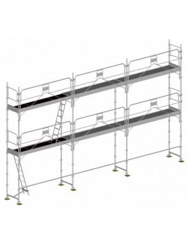 Échafaudage structure + plancher LOT 60 m2 - DUO 45