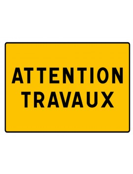 "Panneau seul KC1 22P ""Attention Travaux"""