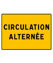 "Panneau seul KC1 CA ""Circulation alternée"""