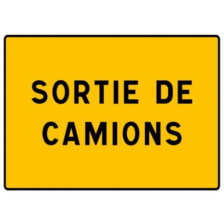 """Panneau seul KC1 SC """"Sortie de camions"""""""