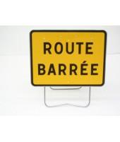 """Panneau KC1 21P """"Route barrée"""" avec support"""