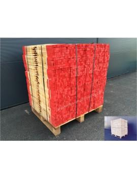 Piquets bois 50 cm bout peint rouge