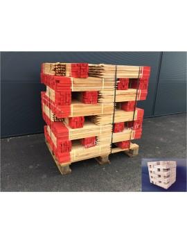 Piquets bois 80 cm bout peint rouge