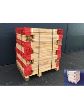 Piquet bois 100 cm bout peint rouge