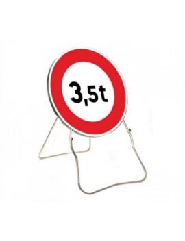 """Panneau avec support BK 13 """"Accès interdit aux véhicules dont le PTAC ..."""""""