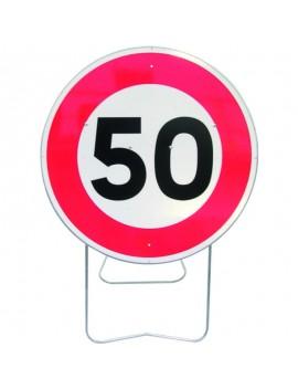"""Panneau avec support BK 14 """"Limitation de vitesse"""""""