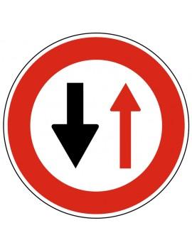 """Panneau seul BK 15 """"Cédez le passage à la circulation ..."""""""