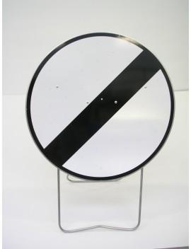 """Panneau avec support BK 31 """"Fin de toutes les interdictions..."""""""