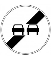 "Panneau seul BK 34 ""Fin d'interdiction de dépasser..."""