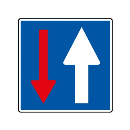 """Panneau seul CK 18 """"Priorité par rapport à la circulation..."""""""