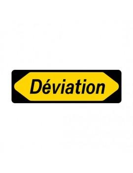 """Panneau seul 1000x300 KD 22a """"Déviation"""" + cache droit ou gauche"""