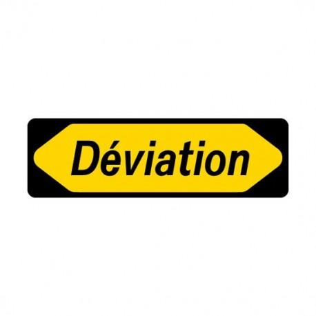"""Panneau seul KD 22a """"Déviation"""""""
