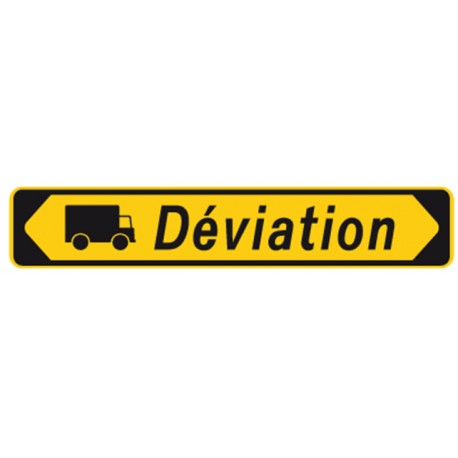 """Panneau seul KD 22b """"Déviation camion"""""""
