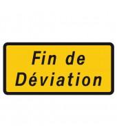 """Panneau seul KD 69b """"Fin de déviation"""""""