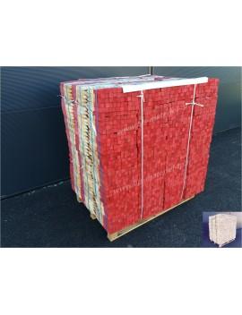 Piquets bois 30 cm bout peint rouge
