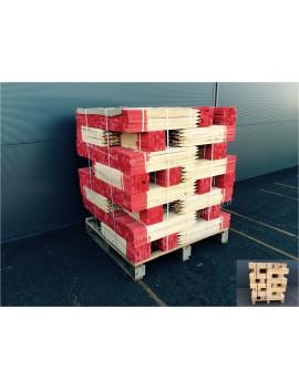 Piquets bois 70 cm bout peint rouge