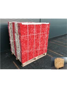 Piquet bois 25 cm peint bout rouge