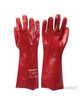 Gants longs PVC rouges