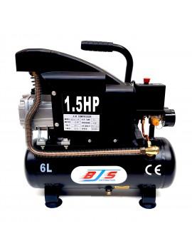 Compresseur d'air coaxial 6 L, 1,5 cv, électrique