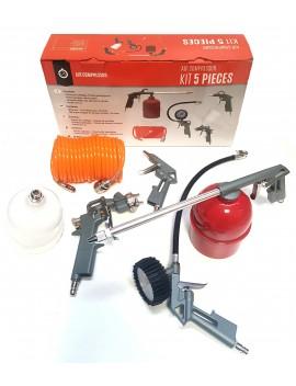 Coffret 5 accessoires pour compresseur d'air
