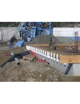 Entretoise en aluminium pour sabot de coffrage