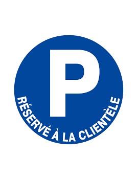 """Panneau PS choc """"Parking reservé à la clientèle"""""""