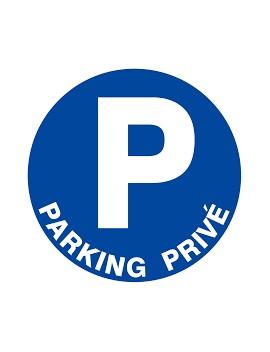 """Panneau PS choc """"Parking privé"""""""