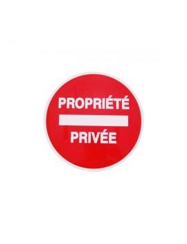 PANNEAU PS CHOC PROPRIETE PRIVE DIAM 30 CM