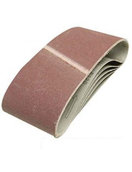 Lot de 5 bandes abrasives 100 x 610 mm Grain 60