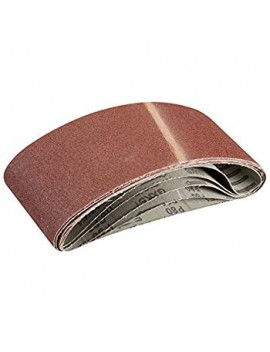 Lot de 5 bandes abrasives 100 x 610 mm Grain 80