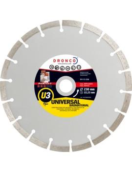 Disque universel materiaux de chantier U3 230 mm DRONCO