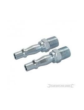Coupleurs baïonnette/ filetage pour tuyau air comprimé, 2 pcs