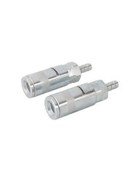 Coupleurs rapides pour tuyau air comprimé, 2 pcs