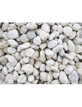 Galet Marbre Blanc pur 10-20 Sac de 20kg